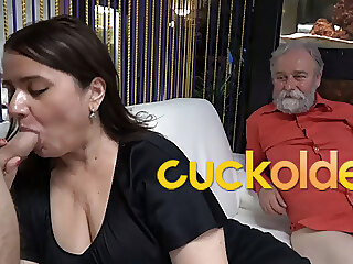 Grandpa is a Master at Cuckolding blowjob bbw mature