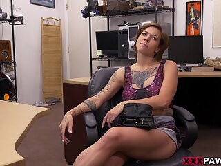Harlow Harrison in Harlow gets needled and inked amateur big tits brunette