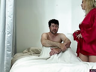 Stepson takes wrong pills and fucks his stepmom for relief amateur blonde big boobs