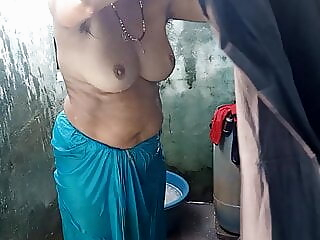 Desi village aunty filmed bathing, part 4, full hd asian close-up mature