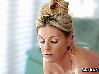 Blonde milf fucked after hot massage blonde hardcore pornstar