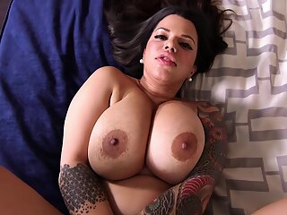 Inked Mommy Rides Dick anal big ass big tits
