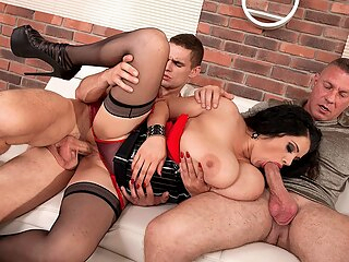 Three The Hard Way - Natasha Sweet, Dellon , and Max Dyor - Scoreland bbw big ass big tits
