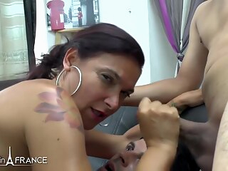 Caro PetiteBombe Gorgeous huge boobed mature gets hard anal big tits brunette