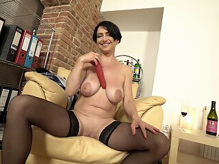 Crazy xxx video MILF unique big tits brunette hd