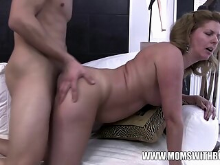 Amateurs Mom Comes Home To Stepson Jerking To Porn amateur brunette cumshot