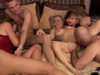 Swinger party amateur blonde group sex