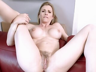 Fucking my Step Mom in the Ass while she is Stuck to the Couch - Cory Chase amateur anal big tits